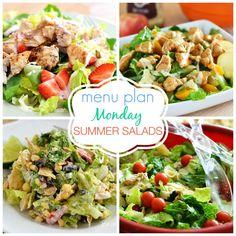 Menu Plan Monday Summer Salads! All the best salads for summer!