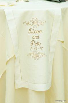 Machine Embroidered Wedding Touches