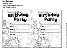 free curious george invitations templates   free printable curious george home ajasimayor com procurement curious ...