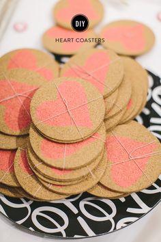 DIY Heart Coasters