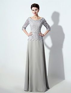 A-line+Mother+of+the+Bride+Dress+Floor-length+Chiffon+with+Lace+/+Sash+/+Ribbon+/+Sequins+–+USD+$+119.99