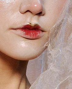 antiquated porcelain doll lips