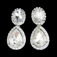 Vintage Style Swarovski Crystal Bridal Earrings Bridal by Annamall, $24.99