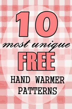 FREE Patterns - 10 Most Unique Hand-Warmers for Winter - Believe&Inspire Knitting Machine Patterns, Bag Patterns To Sew, Sewing Patterns Free, Free Pattern, Clothing Patterns, Sewing Hacks, Sewing Tutorials, Sewing Projects, Sewing Tips