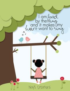 8x10 Print of African American girl/boy on a swing. Whole Etsy shop is an adoption fundraiser.