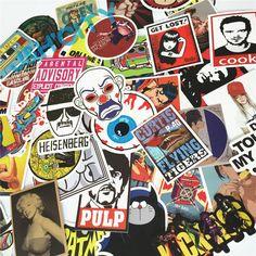 Hot Thời Trang Hỗn Hợp 50 cái stickers đối với trẻ em trang trí nội thất trên máy tính xách tay sticker decal tủ lạnh skateboard cắt doodle nhãn dán đồ chơi dán