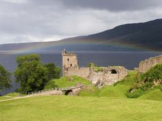 Urquhart Castle may be in ruins, but the location couldn't be more beautiful overlooking Loch Ness.