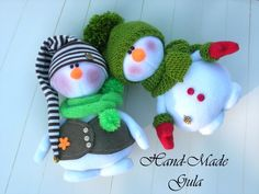 Yulia Gula's photos Christmas And New Year, Winter Christmas, Xmas, Sock Snowman, Snowmen, Christmas Snowman, Christmas Ornaments, Sock Dolls, Different Holidays