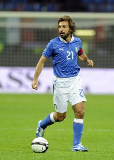 Andrea Pirlo Photos - Andrea Pirlo of Italy in action during the FIFA 2014 World Cup Qualifier group B match between Italy and Denmark at Stadio Giuseppe Meazza on October 2012 in Milan, Italy. - Italy v Denmark - FIFA 2014 World Cup Qualifier Turin, Fifa 2014 World Cup, Andrea Pirlo, World Cup Qualifiers, Dream Team, Football Players, Messi, Superstar, Retro