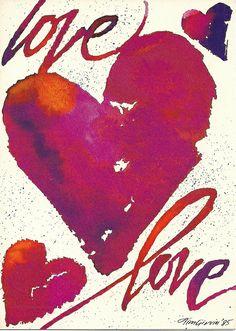 Valentine's Day Card -- Calligraphy by Tim Girvin Design 1985