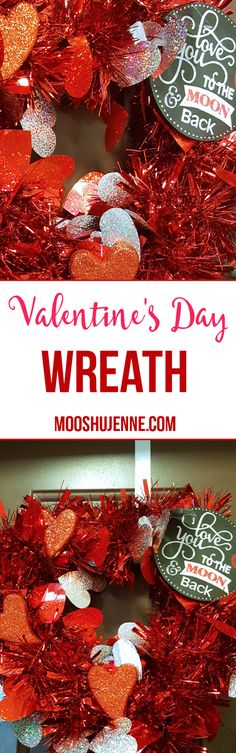 You don't always have to buy something. Instead of buying a pre-made wreath I decided to show you here how to spread the love with a simple do it yourself project that takes under 10 minutes. This Valentine's Day Wreath is so easy. It doesn't take much to make either.