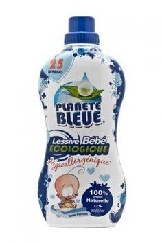 Concentrat 1l=3l (25 de spalari) Descoperiti noul detergent ecologic Planete Bleue Bebe 100% de origine naturala si fara alergeni. Echivalentul unui singur capac va garanteaza curatenie si eficienta pentru rufele bebelusului dumneavoastra respectandu-i pielea datorita formulei hipoalergenice (care limiteaza riscurile de alegii). Hipoalergenic, 100% de origine naturala, 100% din agentii de suprafata de origine vegetala