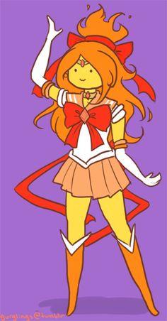 the next 3 senshi in the set— sailor lsp, sailor candyfloss princess and sailor flame princess! (: