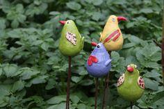 Edith Léon Ceramic birds Oiseaux en céramique Keramieke vogels