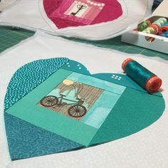 Making a second version of my Key to My Heart pattern, since sometimes the key to one's heart is through bicycling. #keytomyheartpattern #wipwednesday
