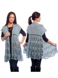 Pineapple Swing Cardigan Crochet Pattern