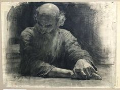 Mikhail Ryasnyansky was a painter from Ukraine. He fought in World War II but was discharged in connection with serious inj. Guy Drawing, Life Drawing, Drawing People, Drawing Sketches, Painting & Drawing, Art Drawings, Figure Drawings, Portrait Sketches, Pencil Portrait