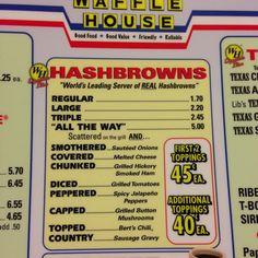Waffle House: Hashbrowns