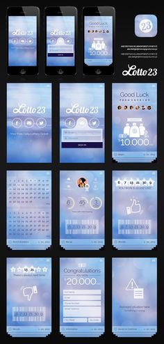 Top 9 July 2013: mobile app design for Lotto 23 by littleperson