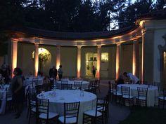 Hacienda De Las Flores pavilion in Moraga. Up lights on columns