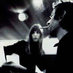 under-the-paris-sky: Jane Birkin & Serge Gainsbourg Serge Gainsbourg, Gainsbourg Birkin, Charlotte Gainsbourg, Photo Rock, Jane Birkin Style, French Actress, Monochrom, Portraits, Love Story