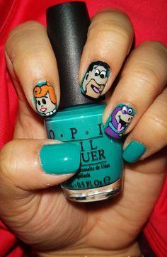 Flintstones Nails