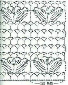 It is a website for handmade creations,with free patterns for croshet and knitting , in many techniques & designs. Crochet Stitches Chart, Crochet Motifs, Crochet Diagram, Crochet Borders, Knitting Stitches, Love Crochet, Irish Crochet, Beautiful Crochet, Crochet Lace