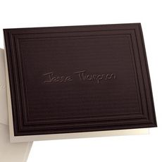 California Classic Frame Mocha Note Cards with Triple Thick Stock