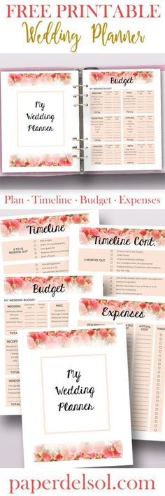 wedding planner kit pdf digital printables in 2018 wedding