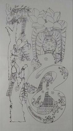 다운받은문자도 도안 공유올려봅니다. Chinese Embroidery, Chinese Art, Folk Art, Vintage World Maps, Sketches, Stamp, Traditional, Drawings, Flowers