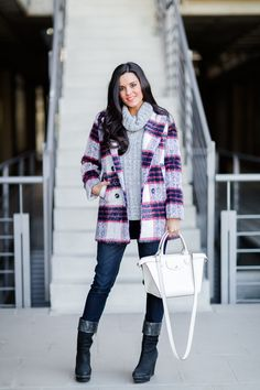 http://stylelovely.com/crimenesdelamoda | Winter Plaid Coat