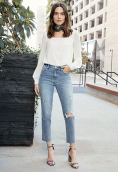 5b6bab8d8c3 Square Neck Blouse in Off-White - Get great deals at JustFab Great Deals