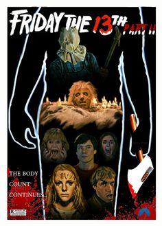 Friday the 13th Pt 2 Horror Movie Slasher Poster Fan Made Edit Mario.frias