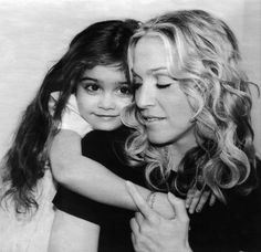 Madonna with her daughter Lourdes in 2000