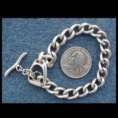 Sterling Silver Stirrup Bracelet 34.2 Grams Ralph Lauren Stirrup .925 from toinetterl on Ruby Lane