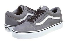 Vans Old Skool Mens VN-0KW6-6ME Grey White Skateboarding Shoes Sneakers Size 5