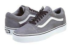 Vans Old Skool Mens VN-0KW6-6ME Grey White Skateboarding Shoes Sneakers Size 5
