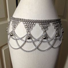 Double Chain Drape Belt Chainmail Gypsy by UtopiaArmoury on Etsy, $75.00
