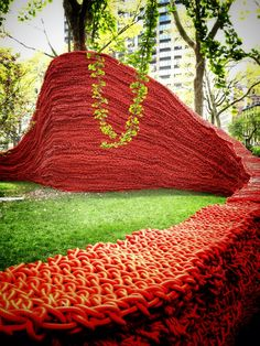 Orly Genger's Red, Yellow & Blue, Madison Square Park, Ny, until September 8, 2013.
