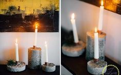 concrete candle holder, concrete masonry, crafts, how to