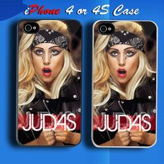 Lady Gaga Judas Stills Custom iPhone 4 or 4S Case Cover