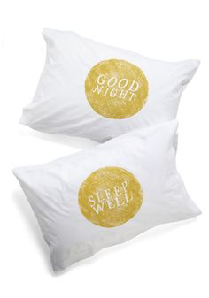 Goodnight, Room Pillowcase Set. No need to count sheep when you lay your head down on these dreamy white pillowcases from Kin Ship. #white #modcloth