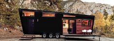 the mid-century modern draper RV for mad men-style life on wheels MHA: Tiny Living Modern Tiny House, Tiny House Plans, Tiny House Design, Tiny House On Wheels, Mid-century Modern, Don Draper, Pre Manufactured Homes, Glamping, Camas Queen Size