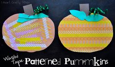 I HEART CRAFTY THINGS: Washi Tape Patterned Pumpkins