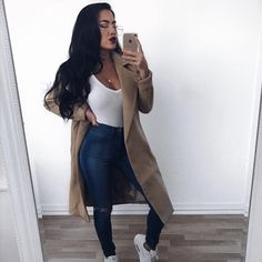 Outfit from 🌹 Cute Teen Outfits, Classy Outfits, Stylish Outfits, Denim Fashion, Fashion Outfits, Winter Outfits Women, Fall Outfits, Movie Night Outfits, Pinterest Fashion