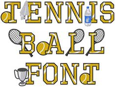 Tennis Ball Font - Scrap Book for Nathan Tennis Tips, Sport Tennis, Le Tennis, Tennis Gear, Tennis Match, Tennis Decorations, Locker Decorations, Tennis Party, Sports Party