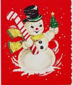 vintage Christmas snowman