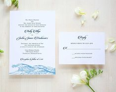 Beautiful wave wedding invitations in digital, letterpress or thermography Dulce Press Stationery & Gifts by Dulcepress on Etsy Cape Cod Wedding, Letterpress, Wave, Wedding Invitations, Stationery, Wedding Inspiration, Place Card Holders, Digital, Unique Jewelry