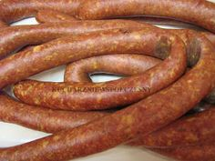 Kucharz Niewspółczesny: Pierwsza kiełbasa Sausage Recipes, Recipies, Meat, Food, Meat Store, Kitchens, Roasts, Bratwurst Recipes, Recipes