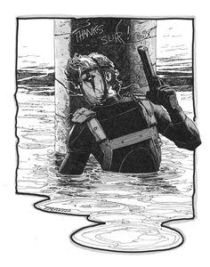Grifter by Travis Charest. Comic Book Artists, Comic Artist, Comic Books Art, Artist Art, Geeks, Travis Charest, Character Art, Character Design, Character Ideas